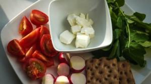 Сырно-овощная тарелка