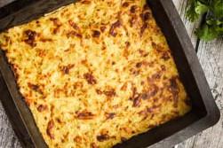 Запеканка из кабачков с сыром и творогом