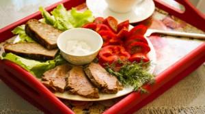 Мясо-овощная тарелка быстрого приготовления