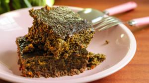Нежный пирог из говяжьей печени (без муки и масла)