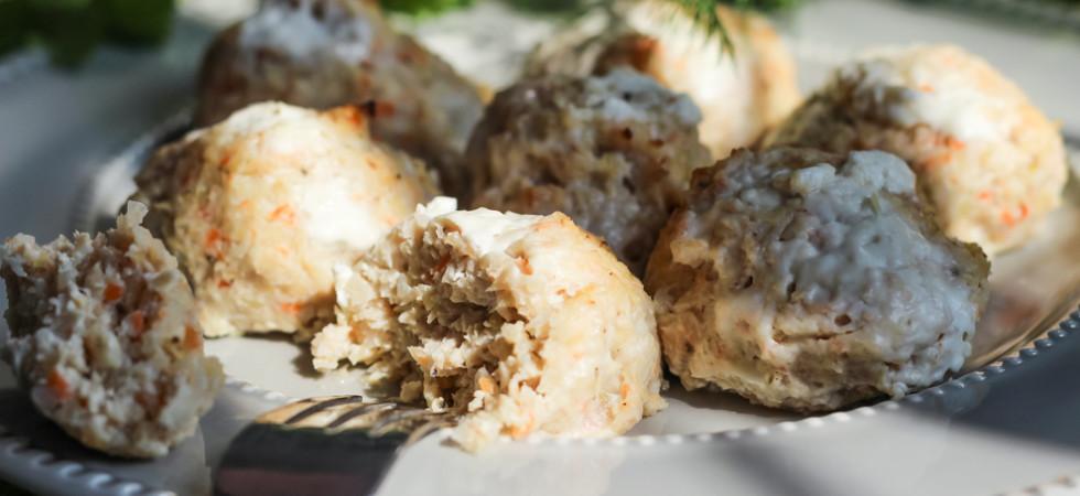 низкокалорийные куриные котлеты с квашеной капустой