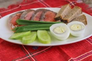 рыбная закусочная тарелка