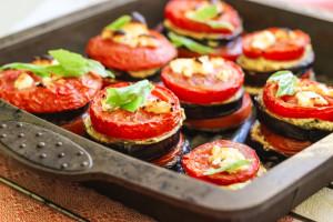 диетические блюда из овощей (помидоры+баклажаны+фета)