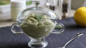 Соус-дип из баклажанов и йогурта