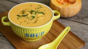 Диетический крем-суп из тыквы и курицы