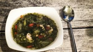 Супчик со шпинатом и брокколи