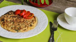 Шведский омлет со шпинатом